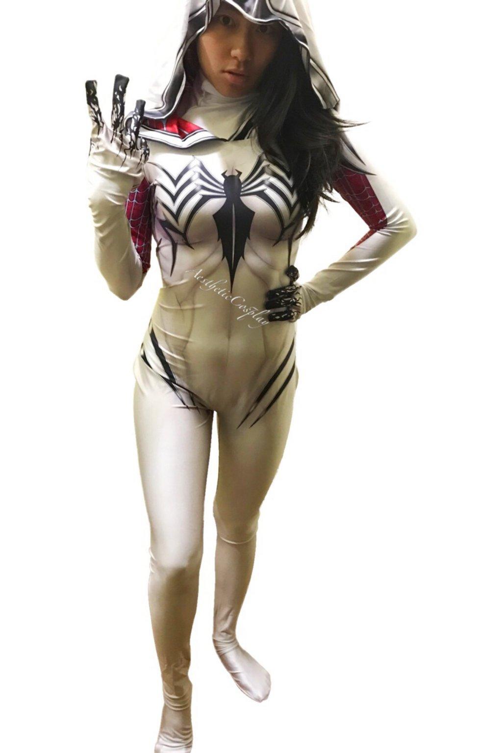 AestheticCosplay Gwenom Cosplay Costume   AntiGwenom Red Carnage Gwen Stacy Suit Bodysuit   Lycra Fabric 61NRBy67dfL
