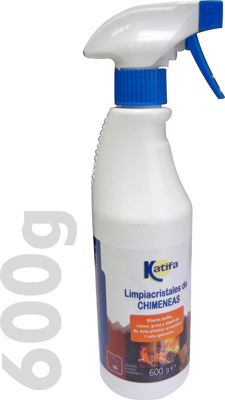 KATIFA Espuma Limpiacristales de chimeneas, 600gr, con pulverizador. Limpia con 1 Sola aplicación. Desengrasa Parrillas y barbacoas, Elimina hollin, ...
