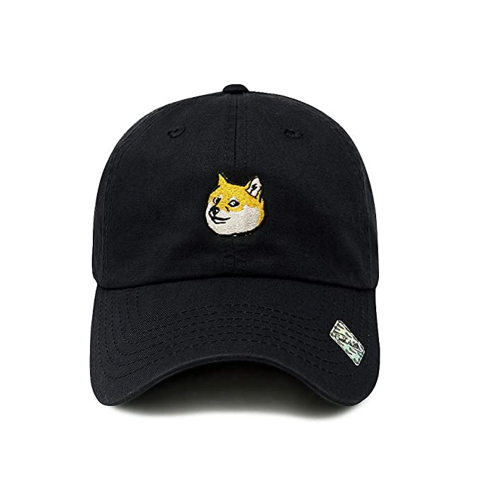 a3bef9cd ChoKoLids Doge Dad Hat Cotton Baseball Cap Polo Style Low Profile 6 Colors  (Black)
