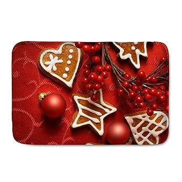 Weihnachtsdeko Haustür.Polero Fußmatten Weihnachten Schmutzfangmatte Weihnachtsmatte Fußmatte Für Haustür Wohnzimmer Als Weihnachtsdeko Lebkuchen Rot