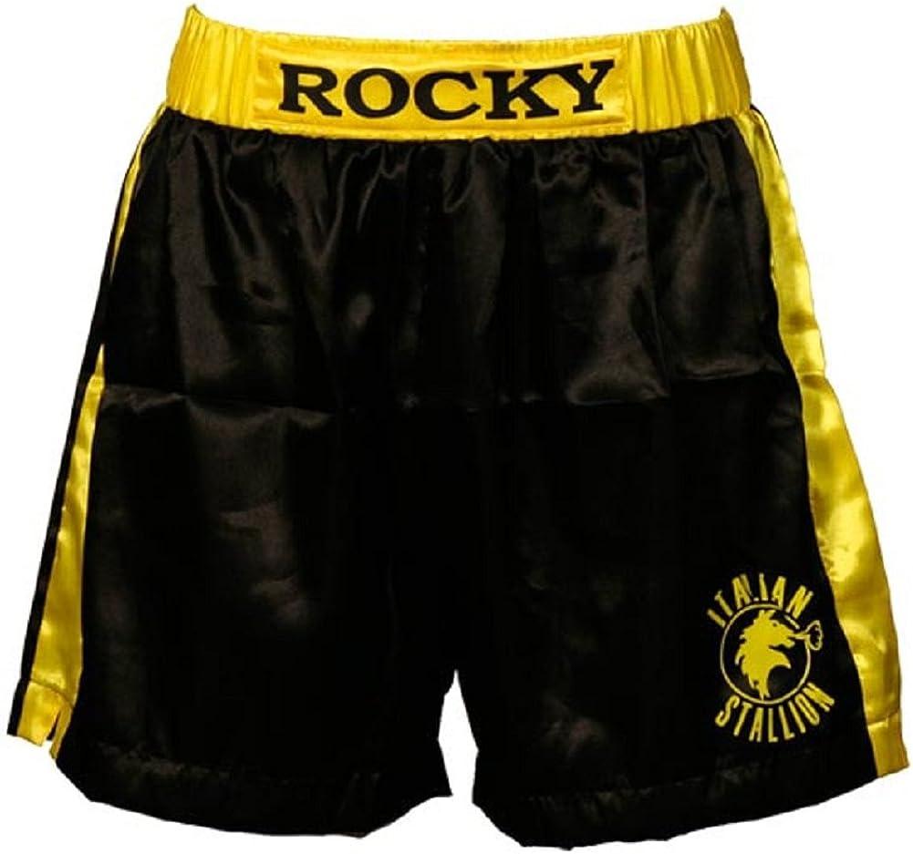Rocky Black Italian Stallion Boxer Shorts: Clothing