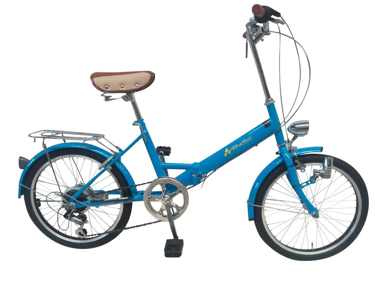リズム(RHYTHM) 20インチ 折りたたみ自転車 シマノ6段変速 RH206CPBD-MRB マリンブルー 34096.0 B01N5539GB