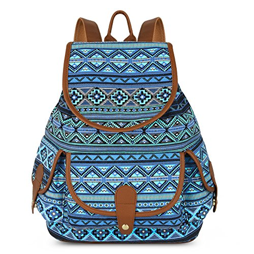 Vbiger Canvas Backpack Casual Daypack