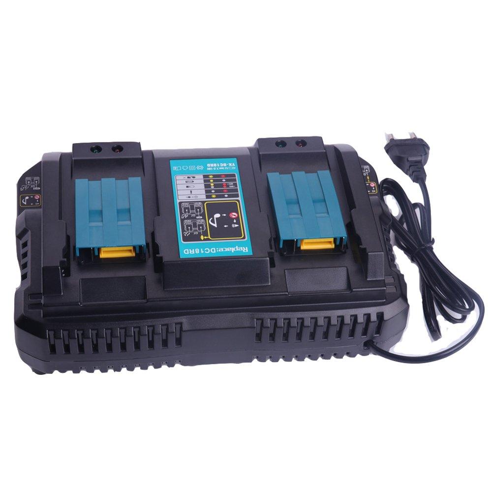 Caricatore e caricabatterie per adattatore di alimentazione USB Caricatore compatibile per batteria al litio 18V 14V di Makita LaiPuDuo