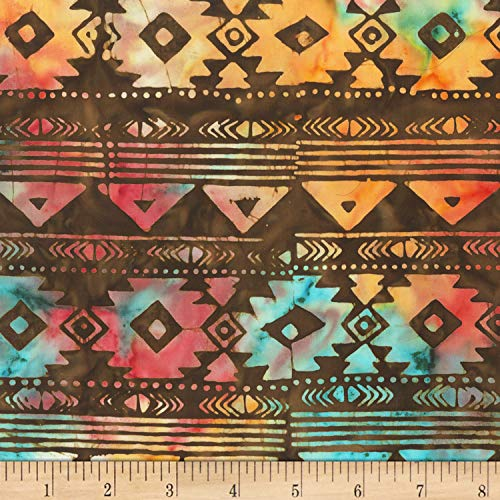 (Anthology Batiks Anthology Specialty Batik Southwest Blanket Stripe Brown, Fabric by the Yard)