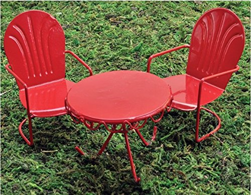 Retro Table Chair Set Red
