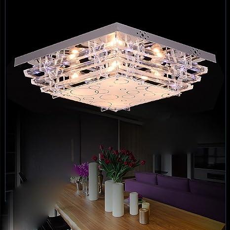 Dormitorio Cristal con acrílico lámpara de techo Iluminación ...