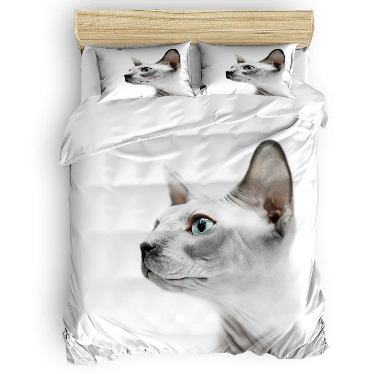 SODIKA 掛け布団カバーセット ウェルカムソフトコットン寝具セット ファスナー開閉 大人/子供用 掛け布団キルトカバー (4点、掛け布団カバー1枚、フラットシーツ1枚、枕カバー2枚) Twin Size B07PBWDNK5 Cat4soa2555 Twin Size