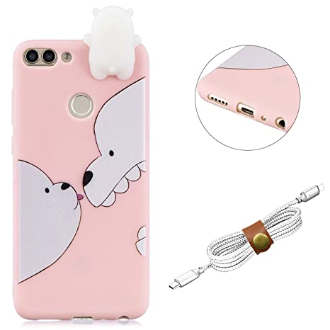 Qy mart cover compatible with huawei enjoy s d carina cartone