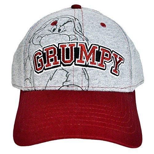 Disney Grumpy Hat (Disney Men's Hat Grumpy Baseball Cap Grumpier (Grey))
