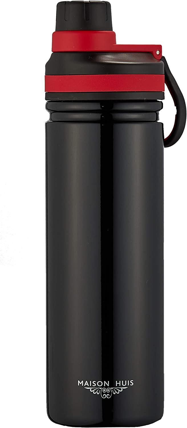 MAISON HUIS 26 Oz Travel Outdoor Sports Thermos Water Bottle Coffee Mug Vacuum Insulated Stainless Steel – Keeps Liquid Hot or Cold – Leak Resistant, Easy Clean