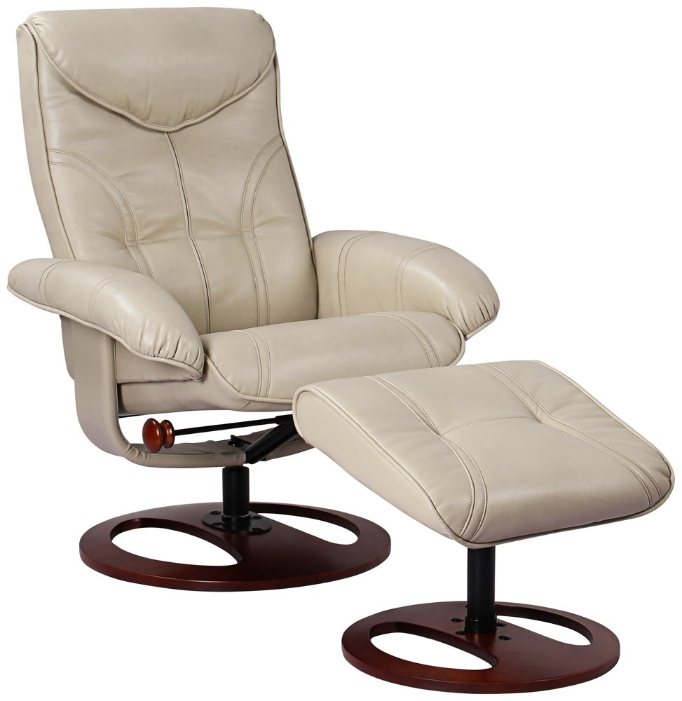 amazon com newport taupe swivel recliner and slanted ottoman