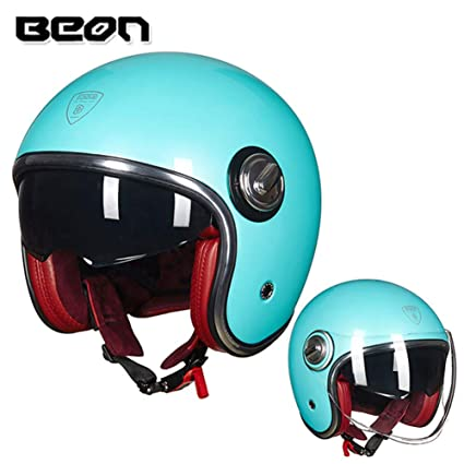 Amazon.com: Loyasun Motorbike Helmet Casco Motorcycle Vintage Moto 3 ...
