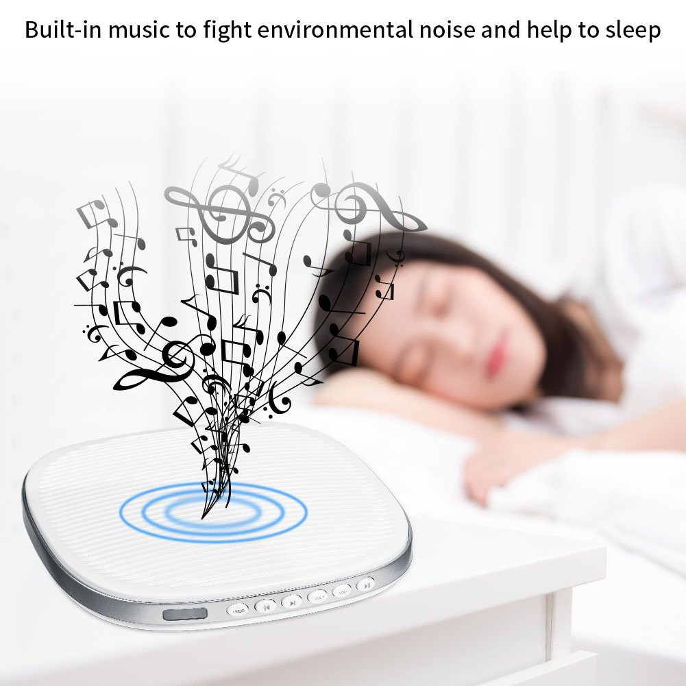 White Noise Machine, Premium Sleep Therapy Sound Machine Portable Spa Relaxation Sound Machine with 20 Natural Soothing Sounds and Sleep Timer for Home Office Baby Travel by Zerone (Image #2)