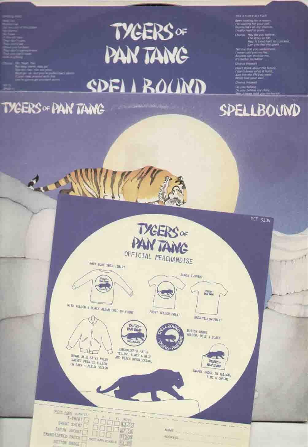 Tygers Of Pan Tang Spellbound Lp Vinyl Music Pantane