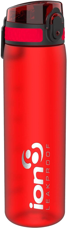 Ion8 Slim Leak Proof BPA Free Water Bottle, 500ml (18 oz), Frosted Scarlet