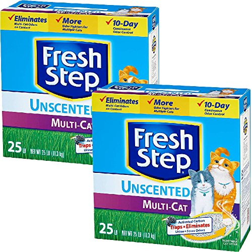 fresh-step-litter-multi-cat-scoopable-unscented-25-lb-pack-of-2