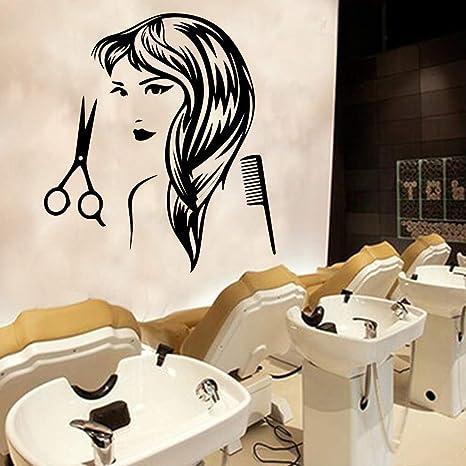 Ajcwhml Peluquería Apliques Peinado Mujer Vinilo Adhesivo de ...