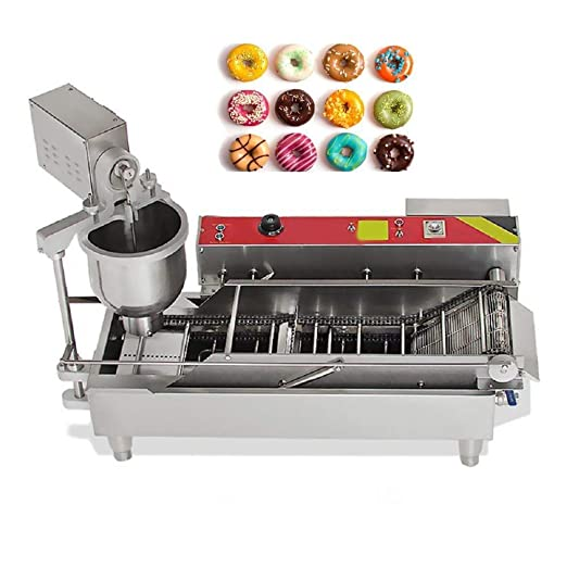 Frying 3 Sizes Moulds Auto Donuts Automatic Commercial Doughnut Turning Zinnor Automatic Donut Making Machine Automatic Temperature Control 7L Donut Maker Forming 2-5days /&USA Shipping