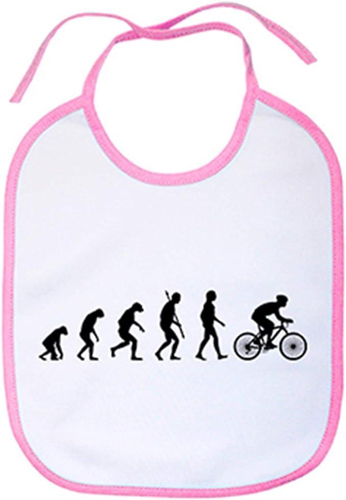 Babero Cyclist Evolution la evolución del ciclista ciclismo bicicleta bici - Celeste: Amazon.es: Bebé
