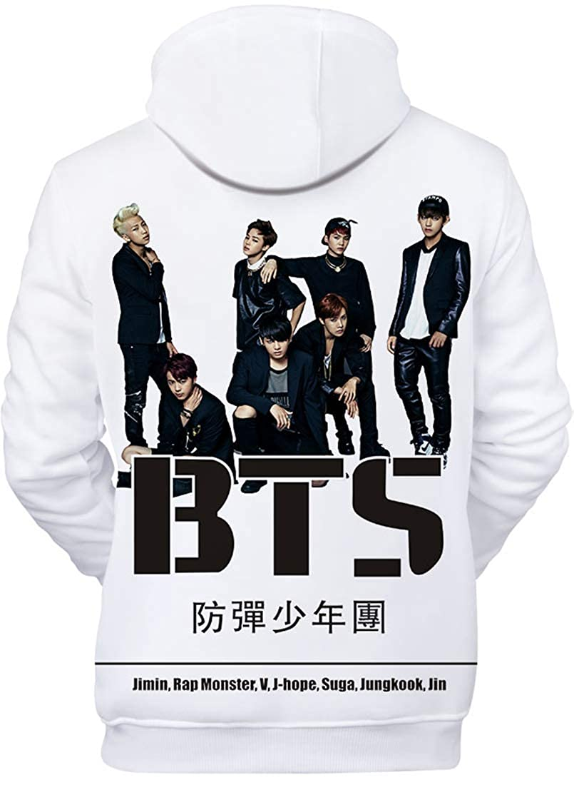 EMILYLE Damen Kpop Sweatshirt BTS Mitgliederportr/ät Jin Suga J-Hope RM Jimin V Jung Kook Jumper