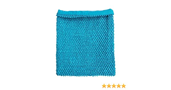 10db0ebe84 Amazon.com  Turquoise Crochet Tutu Top Lined 12 Inches X 10 Inches Elastic Crochet  Tube Top  Clothing
