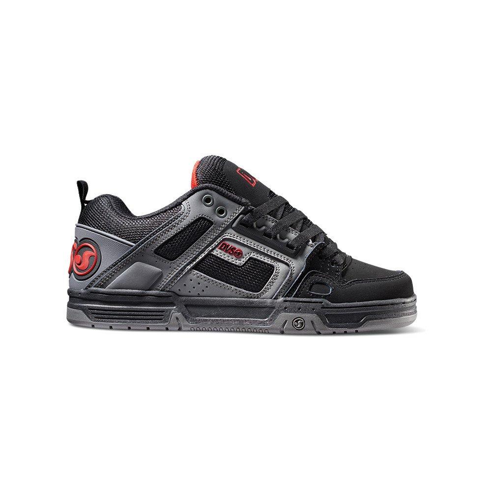 DVS Men's Comanche Skate Shoe, Black Charcoal Red Nubuck Deegan, 12 Medium US