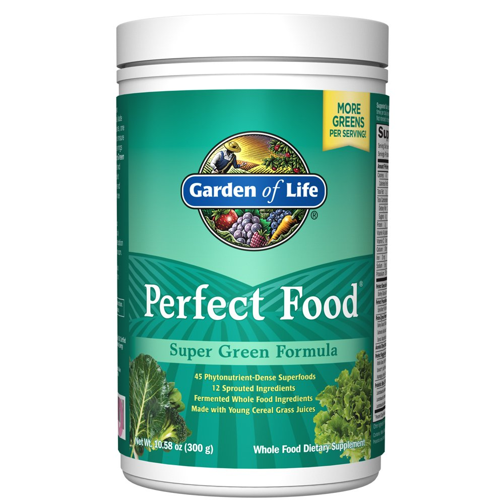 Garden of Life Whole Food Vegetable Supplement - Perfect Food Green Superfood Dietary Powder, 300g by Garden of Life