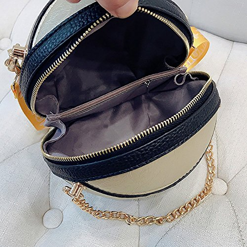 Shoulder Bag Satchels Chain Round Crossbody Women Silver Alphabet Tote Handbags Spherical Small Qiulv Basketball Messenger Shape BORYqw