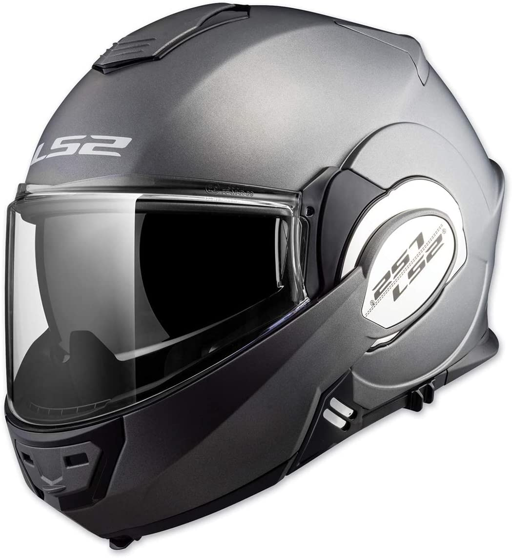 LS2 Helmets Modular Valiant Helmet (Matte Titanium - 2X-Large)