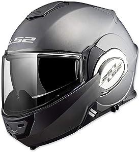 LS2 Helmets Modular Valiant Helmet (Matte Titanium - Large)