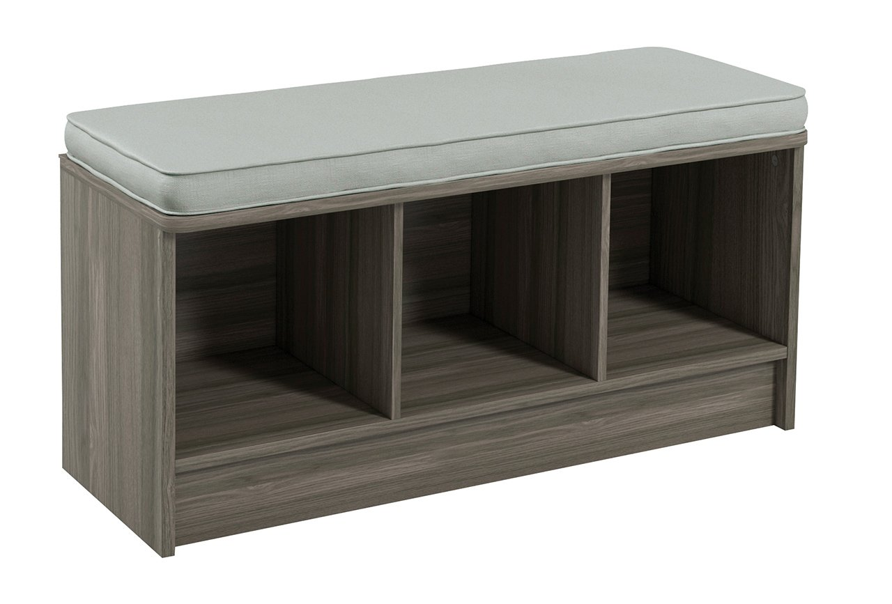 ClosetMaid 3258 Cubeicals 3-Cube Storage Bench, Natural Gray
