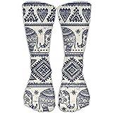 Ankle Support 30CM Low Cut Socks Ethnic Elephant Pattern Print Ankle Compression Socks Foot Sleeve Athletic Quarter Socks