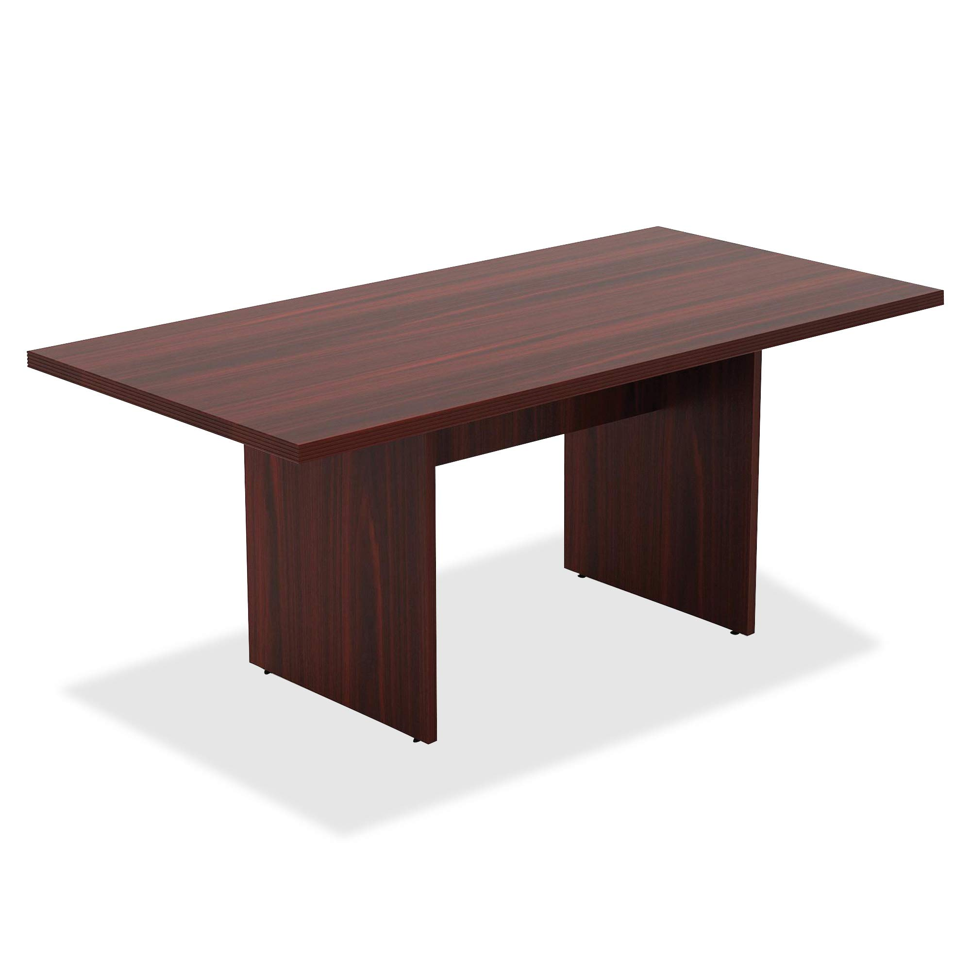 Lorell 34340 Chateau Conference Table, Mahogany Laminate by Lorell