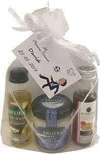 Pack gourmet con aceite de oliva, vinagre de jerez, crema de queso ...