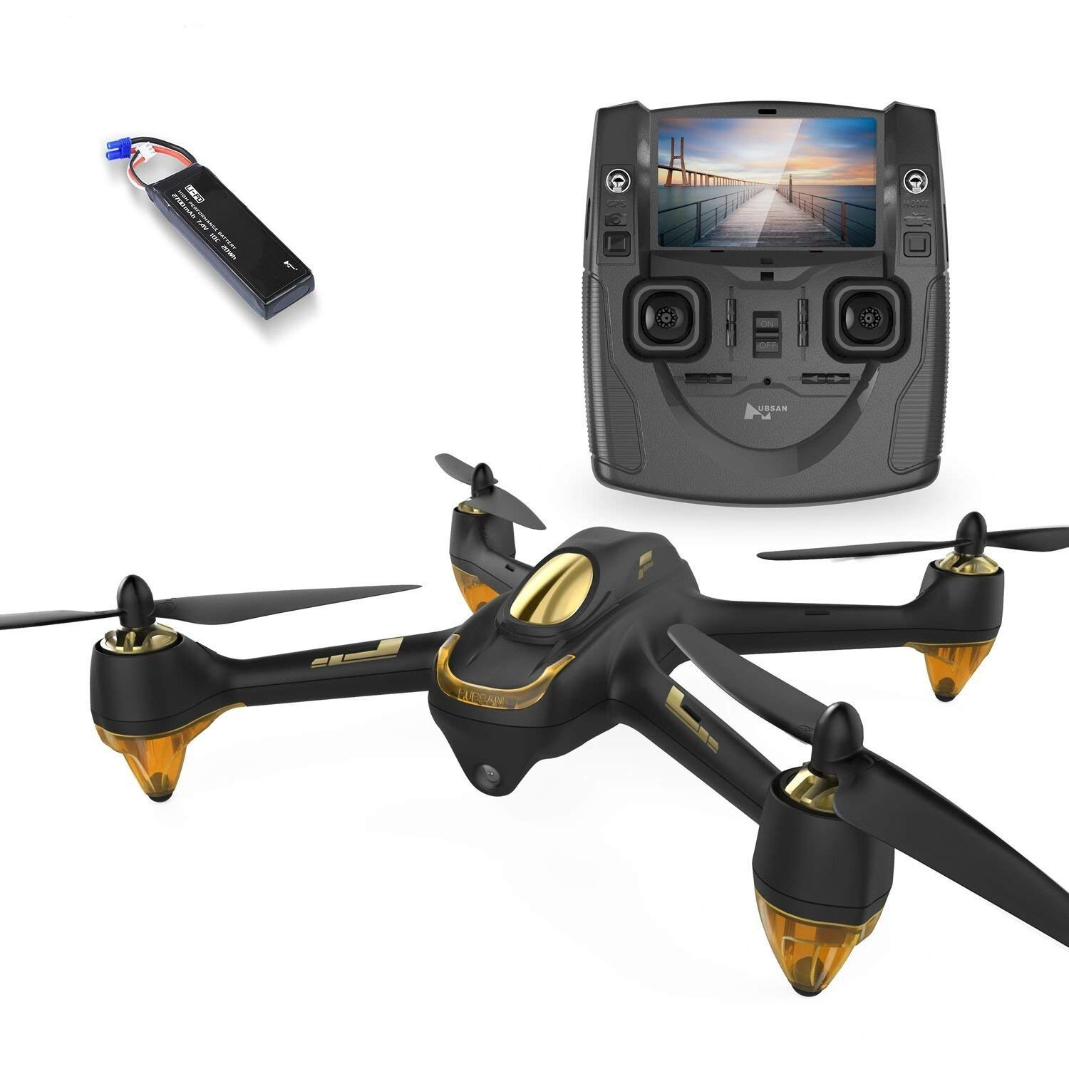 Hubsan JYZ drone H501S X4 BRUSHELESS FPV Quadcopter 1080p Camera GPS Automatic Return Altitude Hold Headless Mode Drone (black) by HUBSAN