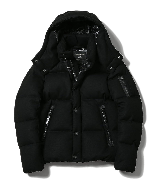 (ナノユニバース) nanouniverse 西川ダウン ウールG2ジャケット 9999171110944 B073XBWP1J  ブラック S