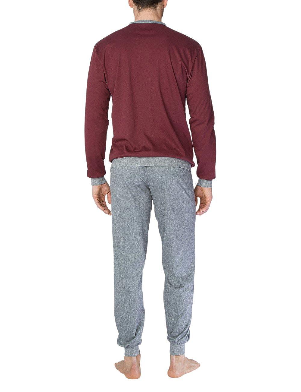 Calida Louis Pyjama Mit Bündchen, Conjuntos de Pijama para Hombre: Amazon.es: Ropa y accesorios