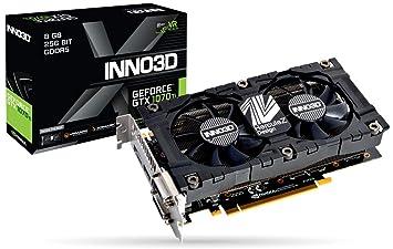 Inno3D N107T-2SDN-P5DS - Tarjeta gráfica (GeForce GTX 1070 Ti, 8 ...