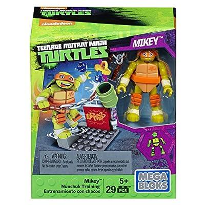 Mega Construx Teenage Mutant Ninja Turtles Mikey Nunchuk Training Pack: Toys & Games