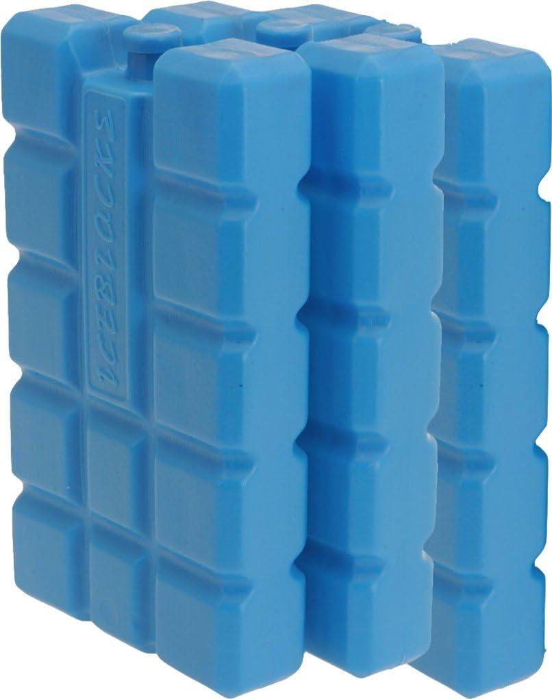 Juego de 3 Acumuladores de frío batería iceblocks Freeze Packs para neveras portátiles 12H Baterías, Iapyx®: Amazon.es: Jardín