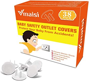 38-Pack Outlet Covers ChildProof Plug Protectors