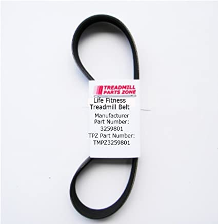 Life Fitness d/&d Main Drive Belt T3 T5 3204201 0101 and 0201 Serials Works Treadmill