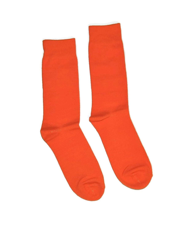 Mens Colorful Fancy Dress Socks 1 Pair Solid Colors