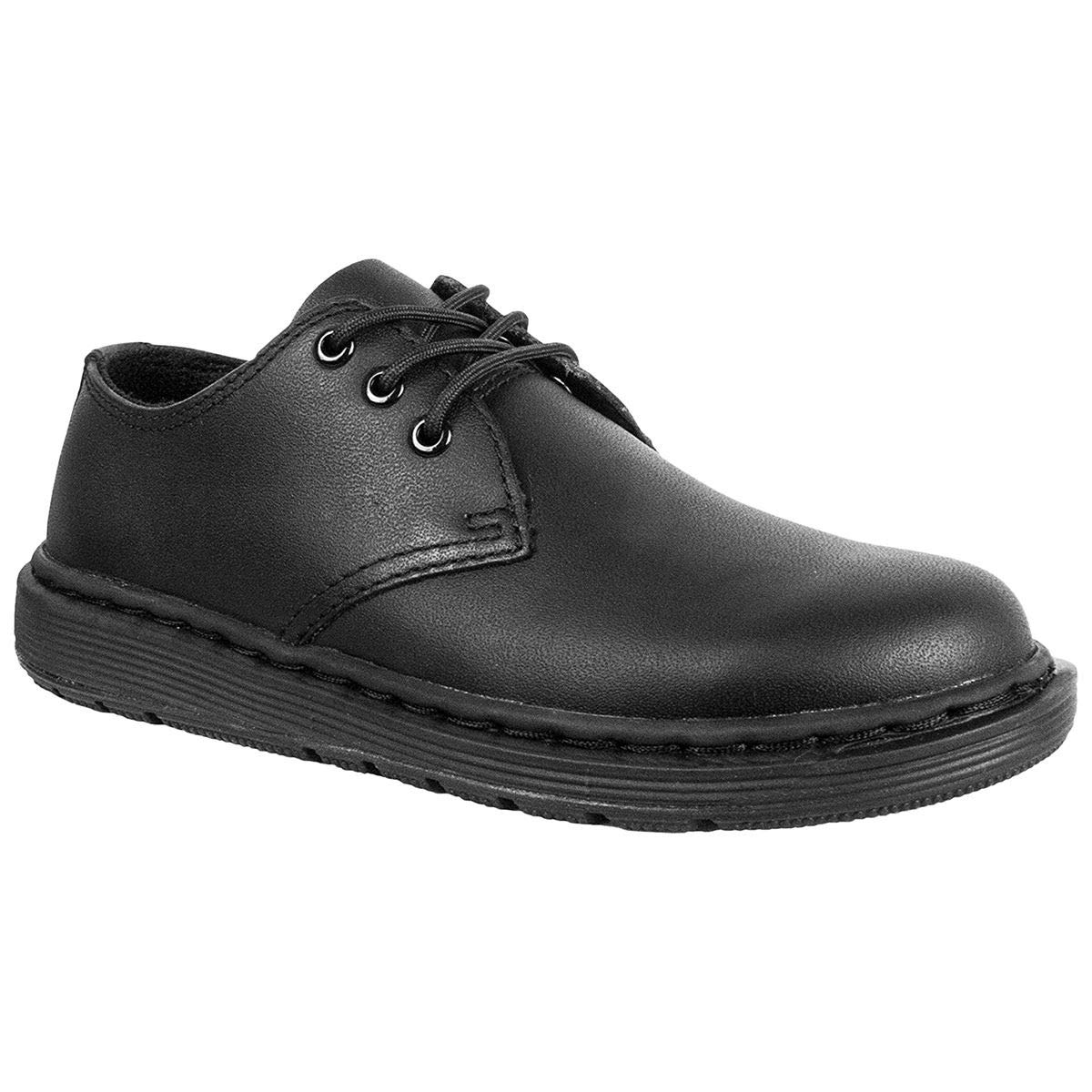 Dr. Martens Unisex Youth Cavendish BTS Black Lace Up Leather Shoes Size 5