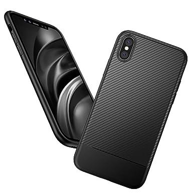 sale retailer 99de9 80a9f OWM iPhone X/Xs Case Black ShockProof [Carbon Fibre Texture ...