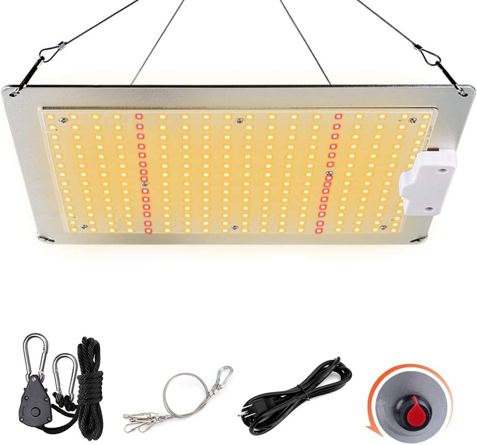 Sunlike Full Spectrum Grow Lamps 2x2 ft Waterproof Growing Lights for Hydroponic Indoor Plants Seedling Veg and Flower Dimmable Greenhouse Panel Growth Lights Favrison LED Plant Grow Light