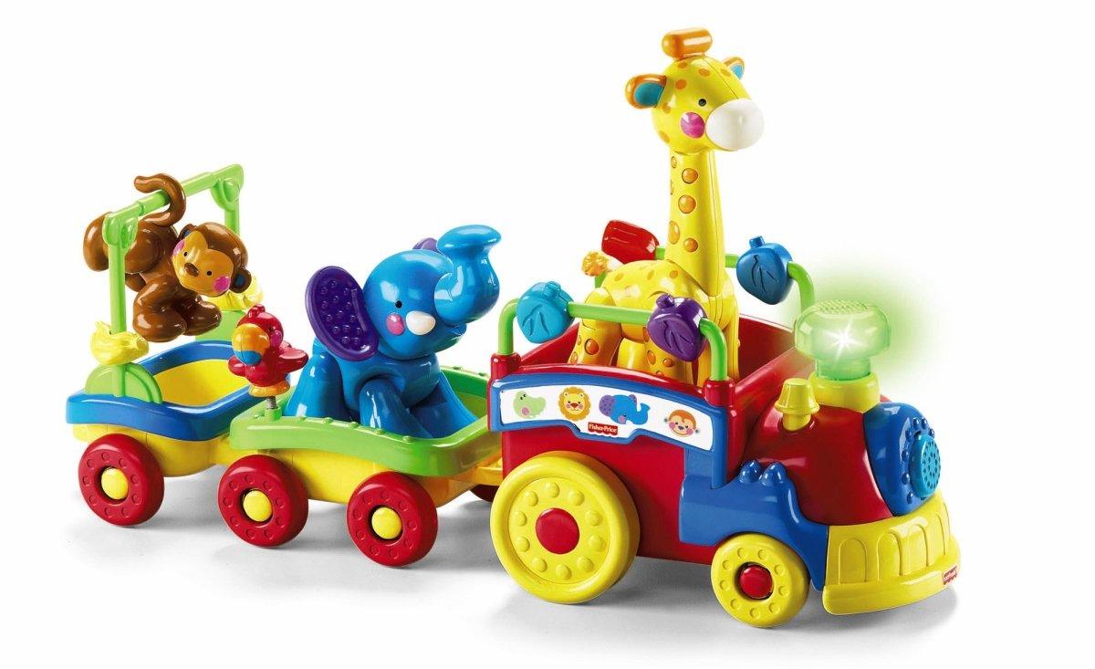 Fisher-Price - Tren musical de animales [importado de Alemania] (Mattel): Amazon.es: Juguetes y juegos