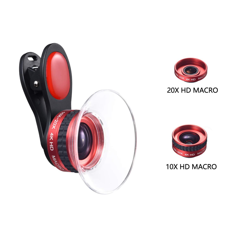 lente macro para celular 10X y 20X