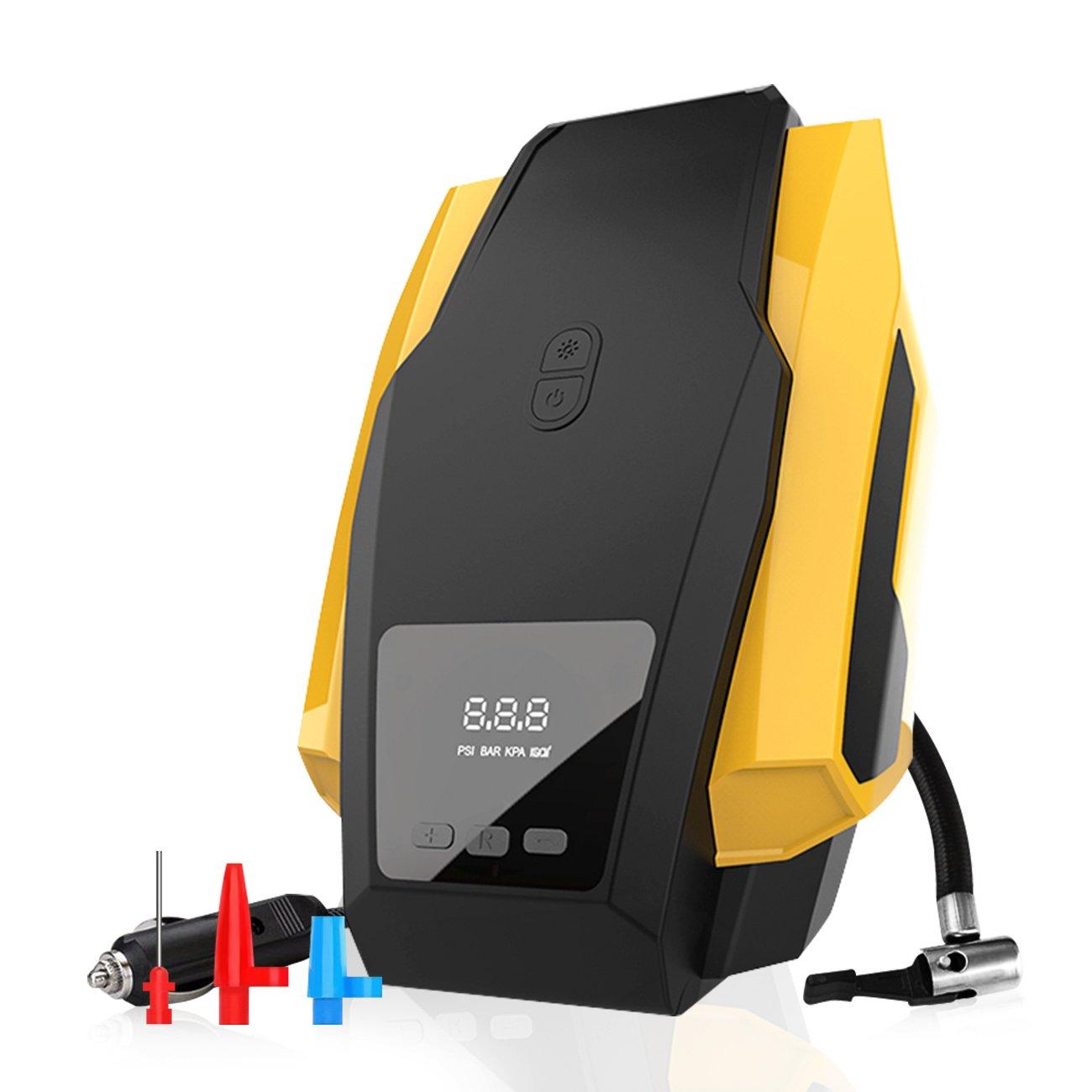 Favoto Compresor Portátil de Aire Bomba Inflador Automático de Presión de Neumáticos Digital de Emergencia con